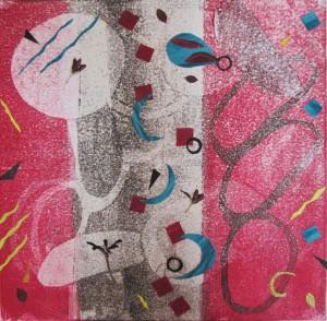 A Little Chaos ll monoprint collage