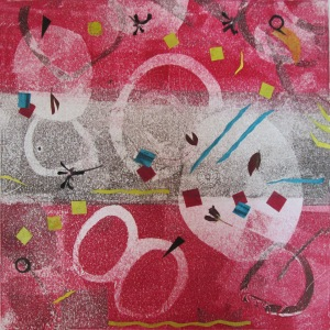 A Little Chaos lll Monoprint collage